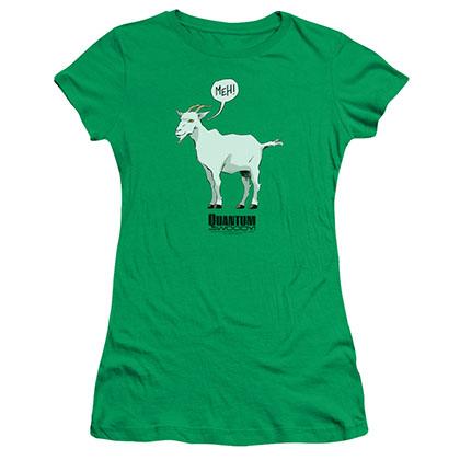 Quantum And Woody Meh Green Juniors T-Shirt