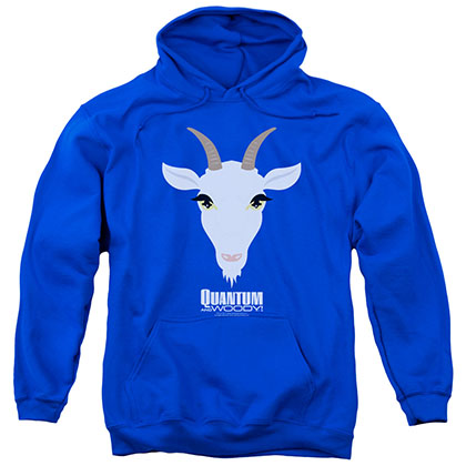 Quantum And Woody Goat Head Blue Pullover Hoodie