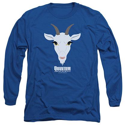 Quantum And Woody Goat Head Blue Long Sleeve T-Shirt
