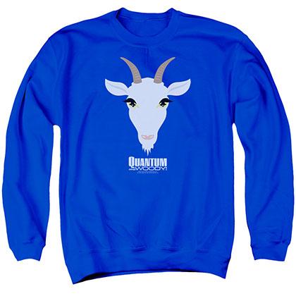 Quantum And Woody Goat Head Blue Crew Neck Sweatshirt