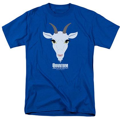 Quantum And Woody Goat Head Blue T-Shirt