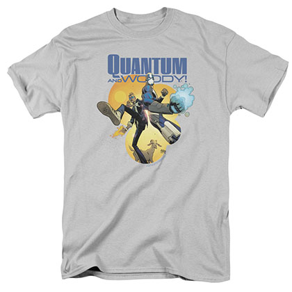 Quantum And Woody Three'S A Crowd Gray T-Shirt