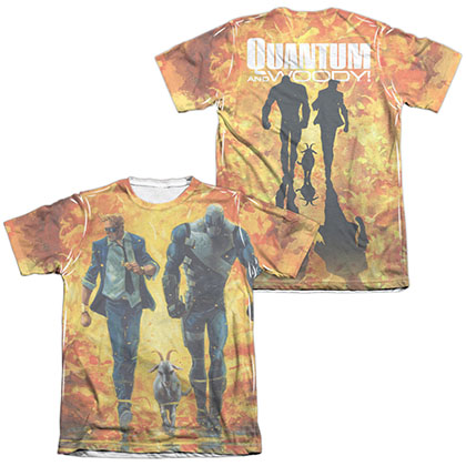 Quantum And Woody Fire It Up  White 2-Sided Sublimation T-Shirt