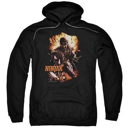 Ninjak Fiery Ninjak Black Pullover Hoodie