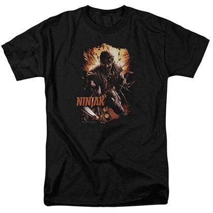Ninjak Fiery Ninjak Black T-Shirt