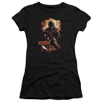 Ninjak Fiery Ninjak Black Juniors T-Shirt