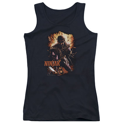 Ninjak Fiery Ninjak Black Juniors Tank Top