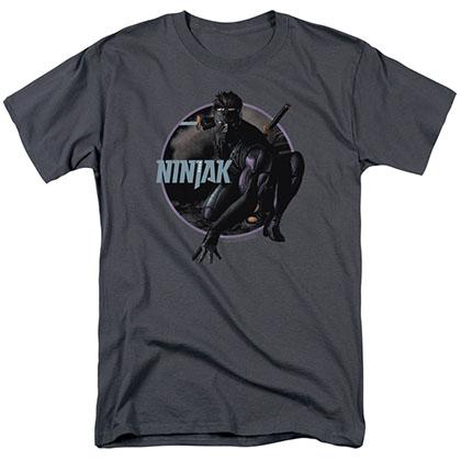 Ninjak Crouching Ninjak Gray T-Shirt