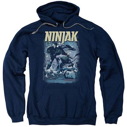 Ninjak Rainy Night Ninjak Blue Pullover Hoodie