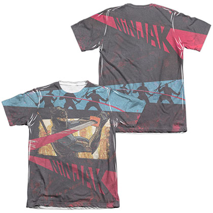 Ninjak Fight  White 2-Sided Sublimation T-Shirt