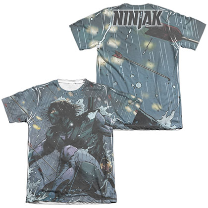 Ninjak Raining Arrows  White 2-Sided Sublimation T-Shirt