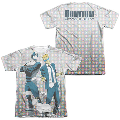 Quantum And Woody Bros  White 2-Sided Sublimation T-Shirt