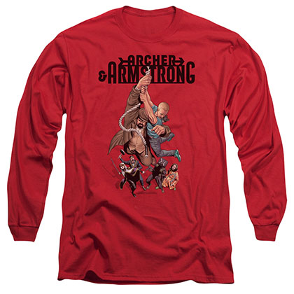 Archer & Armstrong Hang In There Red Long Sleeve T-Shirt