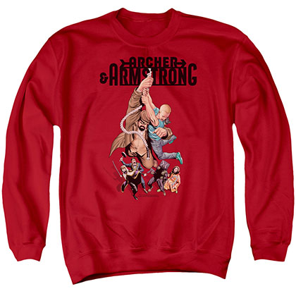 Archer & Armstrong Hang In There Red Crew Neck Sweatshirt