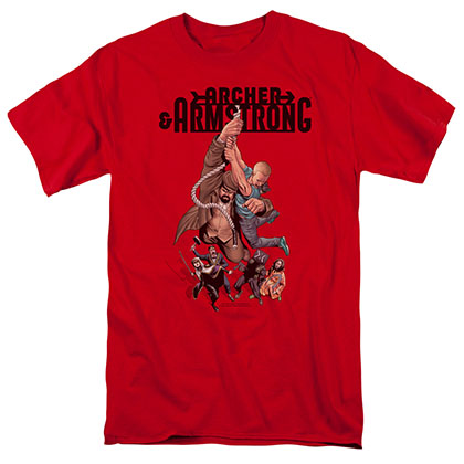 Archer & Armstrong Hang In There Red T-Shirt