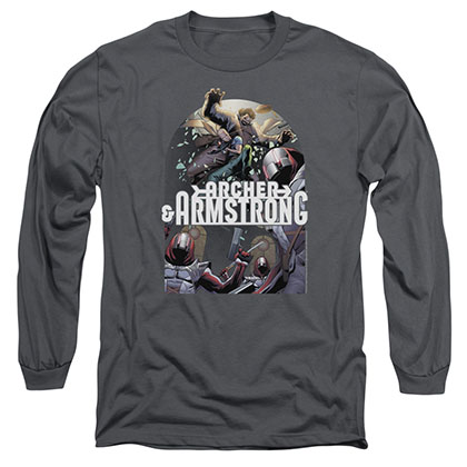 Archer & Armstrong Dropping In Gray Long Sleeve T-Shirt