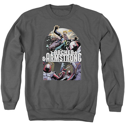 Archer & Armstrong Dropping In Gray Crew Neck Sweatshirt