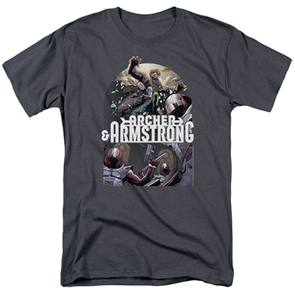 Archer & Armstrong Dropping In Gray T-Shirt