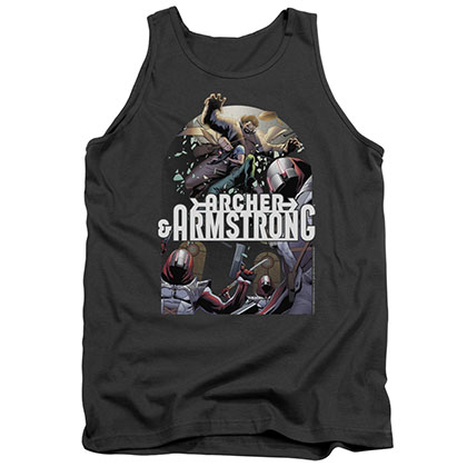 Archer & Armstrong Dropping In Gray Tank Top