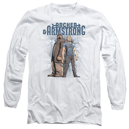 Archer & Armstrong Two Against All White Long Sleeve T-Shirt