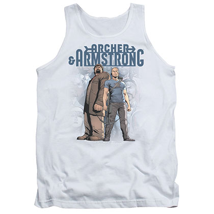 Archer & Armstrong Two Against All White Tank Top