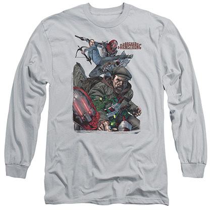 Archer & Armstrong Bottle Smash Gray Long Sleeve T-Shirt