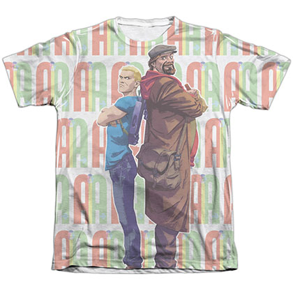 Archer & Armstrong Unlikely Team White Sublimation T-Shirt