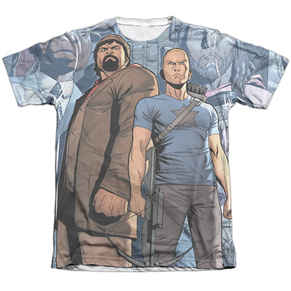 Archer & Armstrong Heroes & Villains White Sublimation T-Shirt
