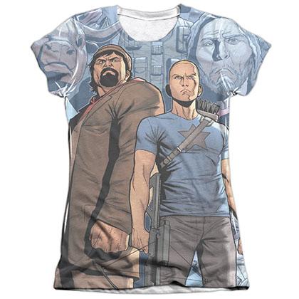 Archer & Armstrong Heroes & Villains White Juniors Sublimation T-Shirt