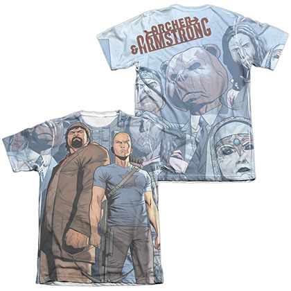 Archer & Armstrong Heroes & Villains  White 2-Sided Sublimation T-Shirt