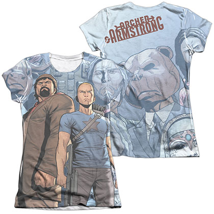 Archer & Armstrong Heroes & Villains  White 2-Sided Juniors Sublimation T-Shirt