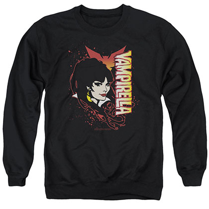 Vampirella Devilish Grin Black Crew Neck Sweatshirt