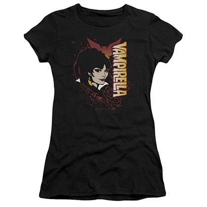 Vampirella Devilish Grin Black Juniors T-Shirt