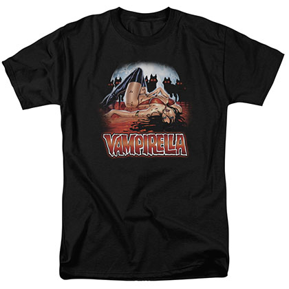 Vampirella Bloodbath Black T-Shirt