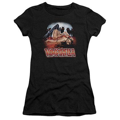 Vampirella Bloodbath Black Juniors T-Shirt