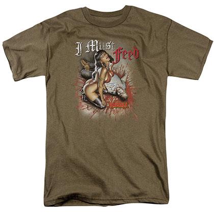 Vampirella I Must Feed Green T-Shirt