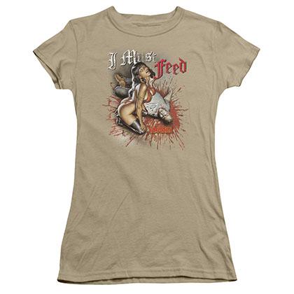 Vampirella I Must Feed Green Juniors T-Shirt