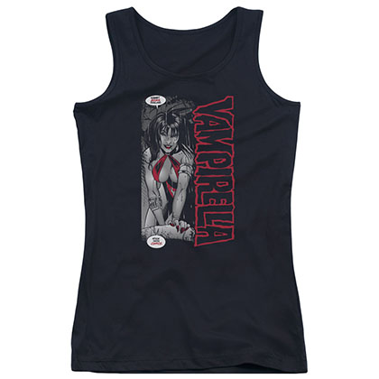 Vampirella Stick With Comics Black Juniors Tank Top