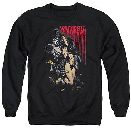 Vampirella Blood And Stones Black Crew Neck Sweatshirt