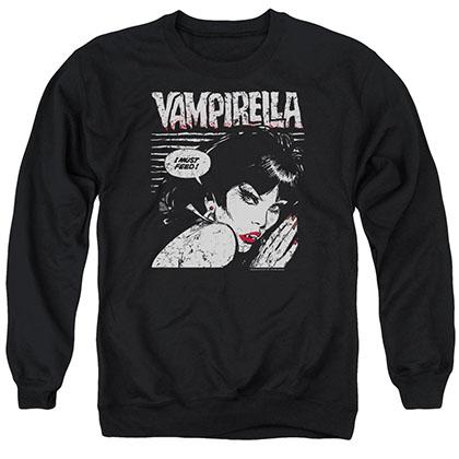Vampirella I Must Feed Black Crew Neck Sweatshirt