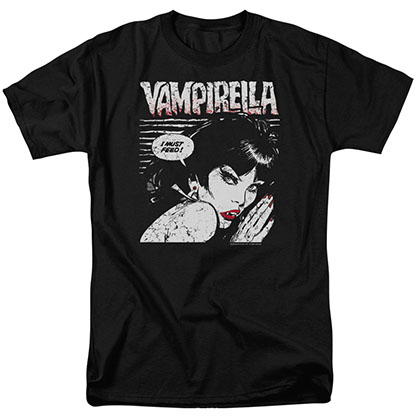 Vampirella I Must Feed Black T-Shirt