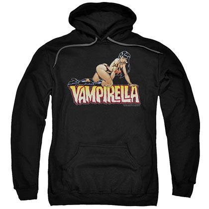 Vampirella Title Crawl Black Pullover Hoodie
