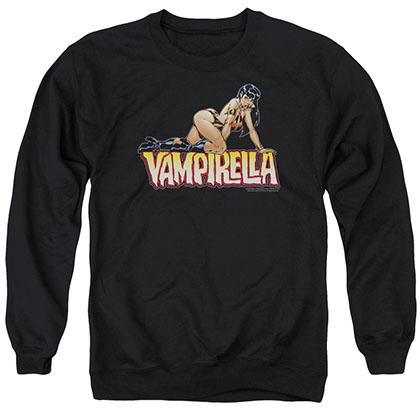 Vampirella Title Crawl Black Crew Neck Sweatshirt