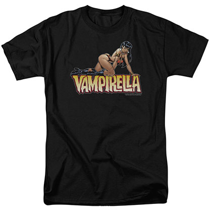 Vampirella Title Crawl Black T-Shirt