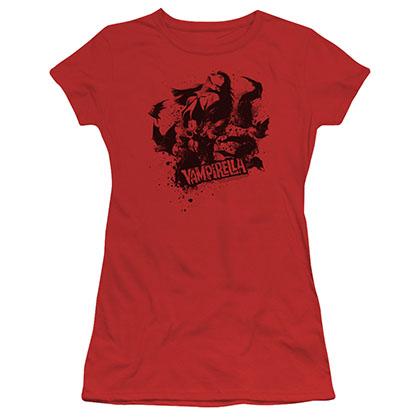 Vampirella Vampire Splat Red Juniors T-Shirt