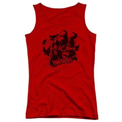 Vampirella Vampire Splat Red Juniors Tank Top