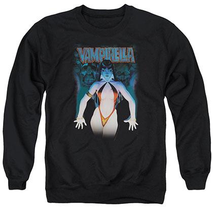 Vampirella Against The Wall Black Crew Neck Sweatshirt
