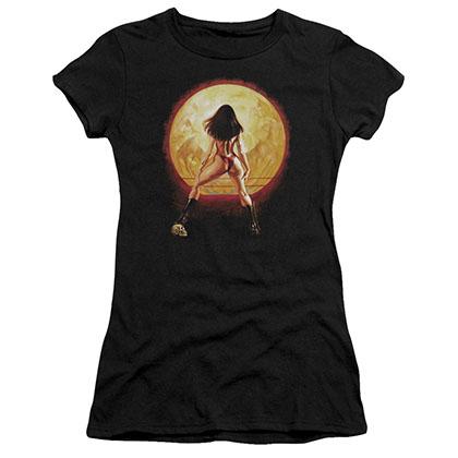 Vampirella Full Moon Black Juniors T-Shirt