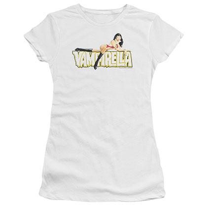 Vampirella Logo Lounge White Juniors T-Shirt