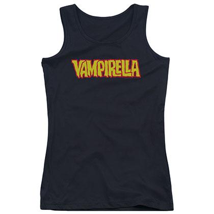 Vampirella Logo Black Juniors Tank Top